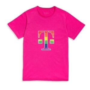 410 MEN'S T-SHIRT LOGO RAINBOW
