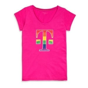 410 WOMEN'S T-SHIRT LOGO RAINBOW